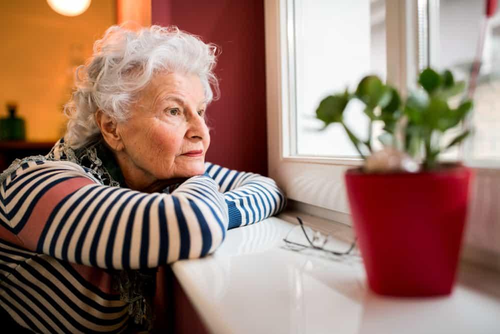 Lonely Elderly Lady