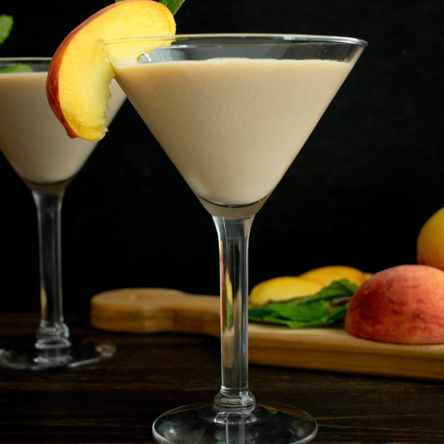 Sunday Peach Cobbler Dessert Martini