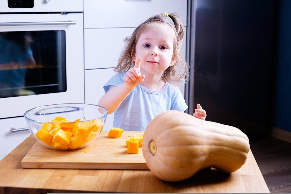 Kids and Butternut Squash