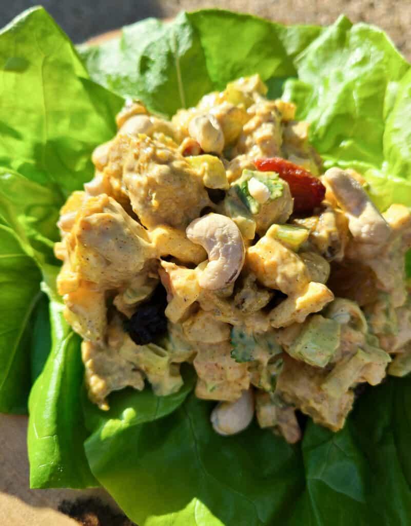 Vegan Curry Chicken Salad | Eat. Drink. Work. Play.