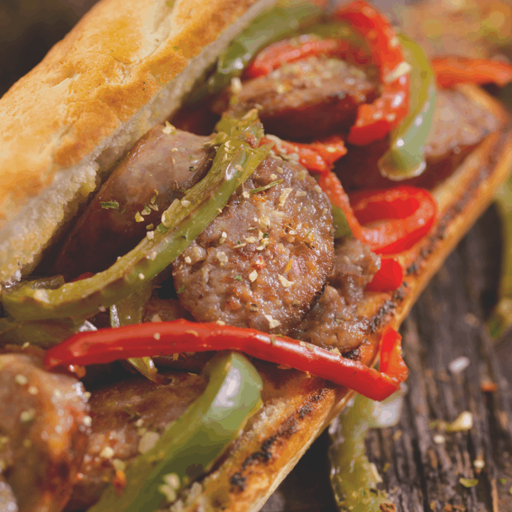 sausage and pepper sandwich | 10-course Italian Easter Feast to Impress | Eat. Drink. Work. Play.