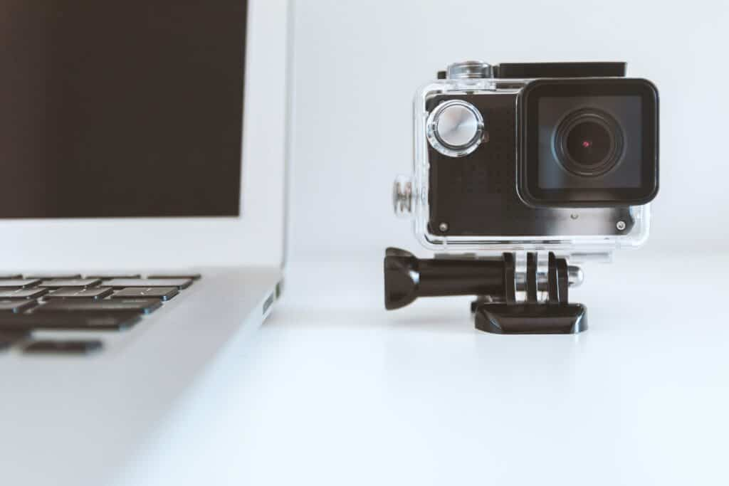 computer and video camera | how to create an eye-catching video for your next interview | Eat. Drink. Work. Play.