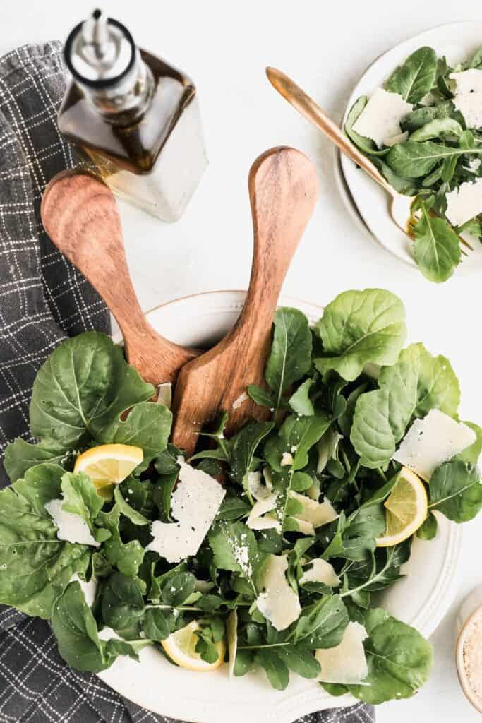 arugula salad | a 10-course Italian Easter Feast to Impress | Eat. Drink. Work. Play.