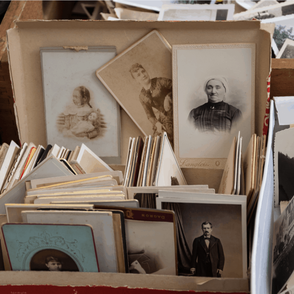 How to Make Storytelling Fun & Exciting | box of old family photos | Eat. Drink. Work. Play.