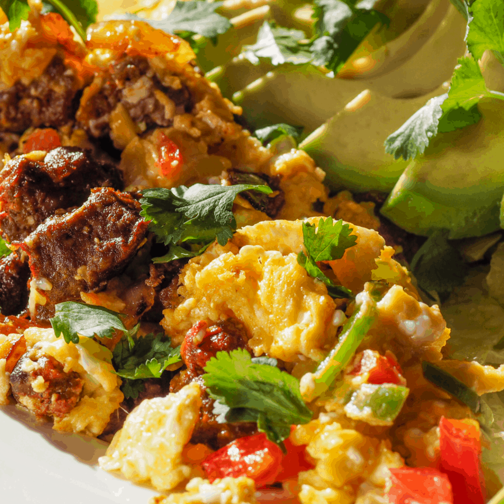 chorizo and eggs   best cinco de mayo meals and drinks   Eat. Drink. Work. Play.